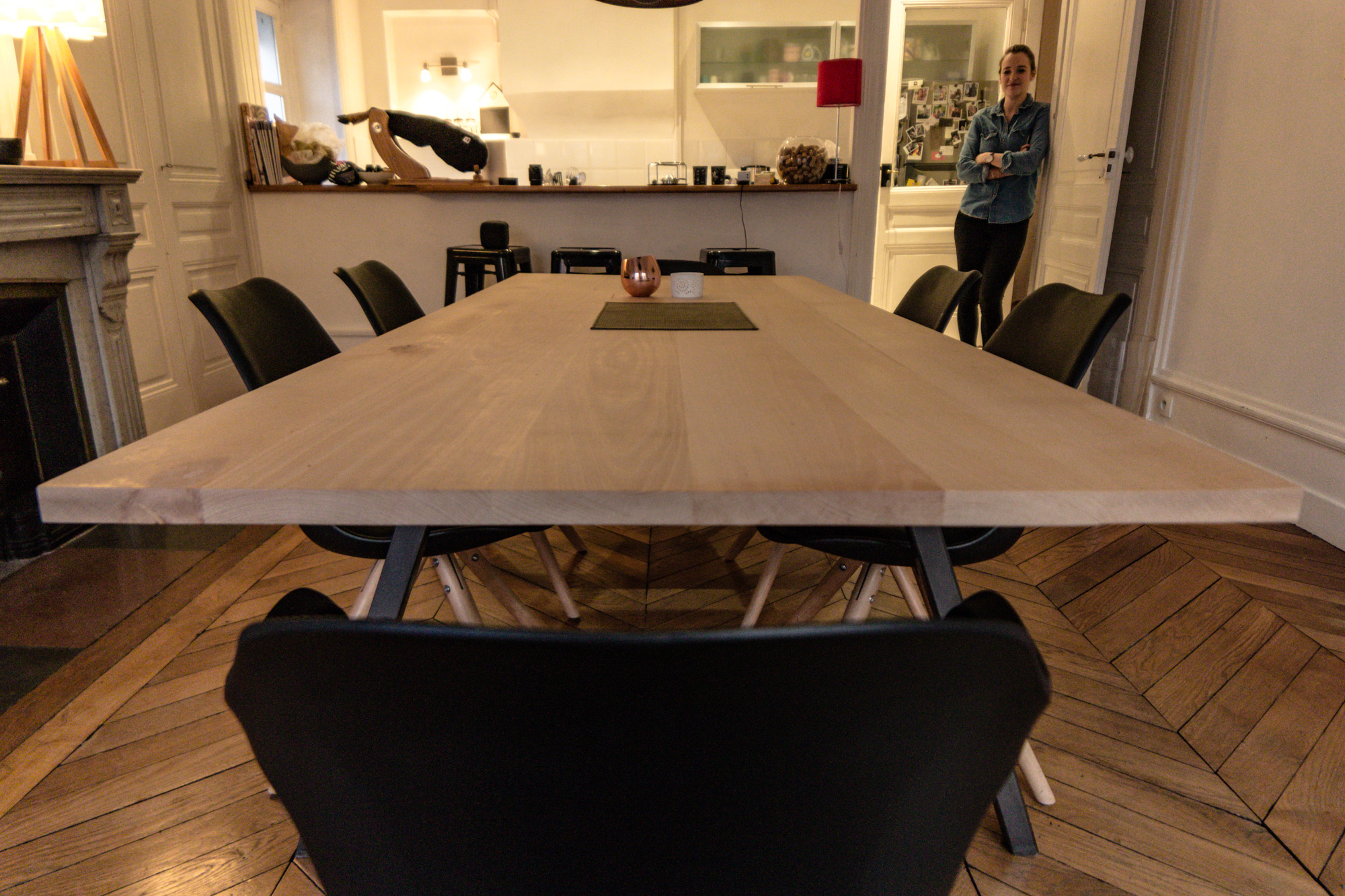 Création table hêtre massif